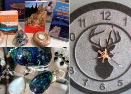 Decorative stone items, greeting cards to books.